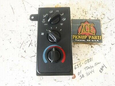 00-01 Dodge Ram Pickup OEM AC Heater Climate Control WITHOUT HEATED MIRRORS
