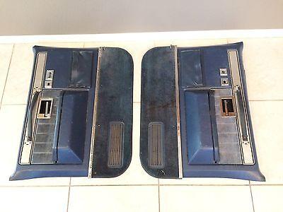 1981-1987 Chevy GMC Truck Door Panels Blue Silverado Sierra classic c10 c20 c30