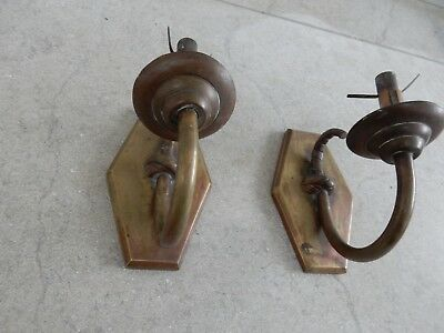 ART DECO sconce  PLATE  WALL LAMP   brass   to resrore