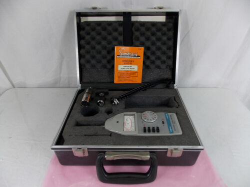SIMPSON 886 SOUND LEVEL METER KIT WITH BOX
