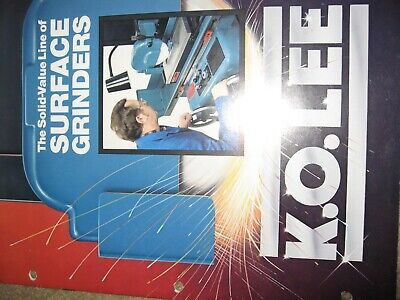 K O Lee Manual Surface Grinders16 Pgs. Technical Data Std. Equipment Mint