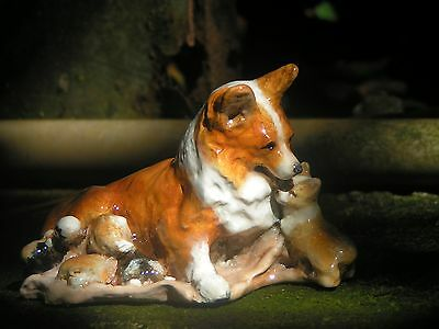 Corgi Figurine Mother and Puppy from Hevener