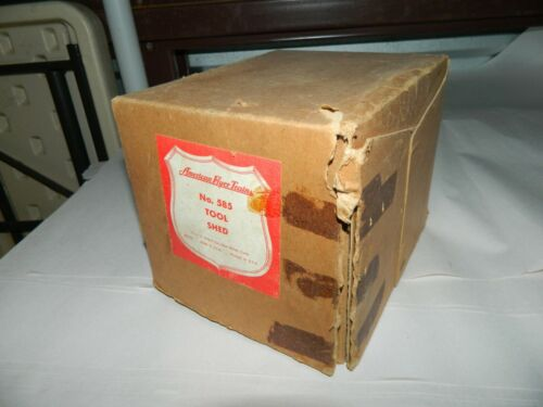 Original Vintage American Flyer S Gauge  585 Tool Shed with original box