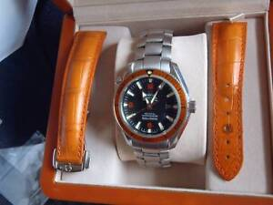 OMEGA PLANET OCEAN AUTOMATIC ORANGE BEZEL WATCH ! Beenleigh Logan Area Preview