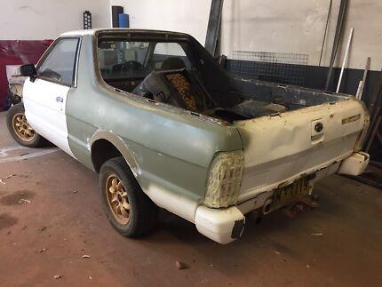 Subaru Brumby Ute 1988 project.