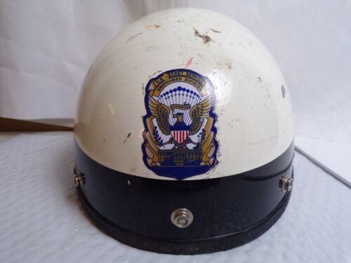VINTAGE 1982 MOTORCYCLE HELMET- U.S.SECRET SERVICE UNIFORM DIVISION HELMET.SEER