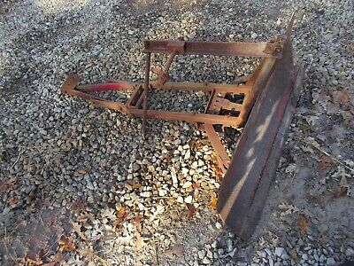 Cub Tractor Front Ih Snow Blade Complete W Brackets Ihc Works Good Ready To Use