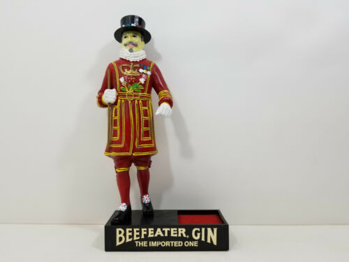 Vintage Beefeater Gin Hand Painted Bar Advertising Store Display Statue