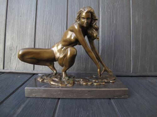 SEXUAL EROTIC  Bronze statue  WOMAN Art Deco J.PATOUE