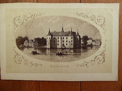 Glücksburg alte Reproduktion eines Stiches vom Schloss