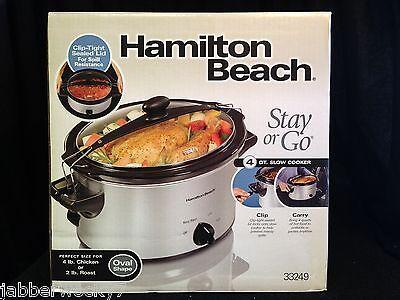 Hamilton Beach Stay or Go 33249 Cooker - 1 gal - Silver