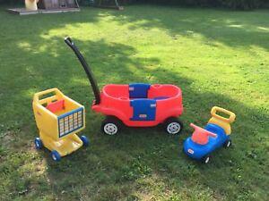Little Tikes - Chariot panier et auto