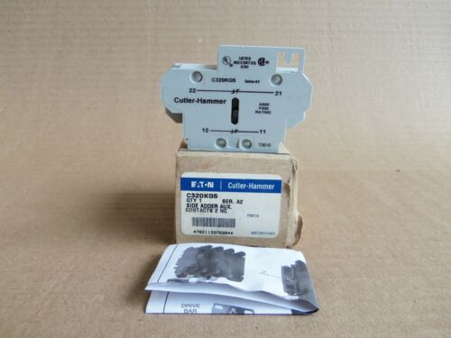 CUTLER HAMMER EATON C320KG5 SIDE ADDER AUXILIARY CONTACTS 2 NC SER. A2 CONTACTOR