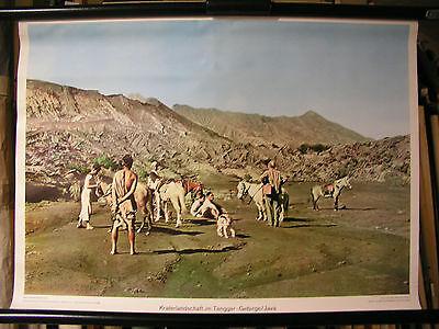 Schulwandbild Mural Image Kraterlandschaft in the Tengger-Gebirge Asian 71x51cm