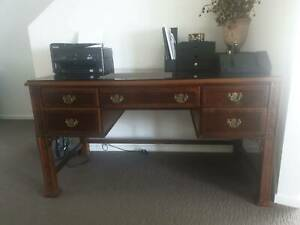 Executive Desk Antique Solid Timber Made in America Bundall Gold Coast City Preview