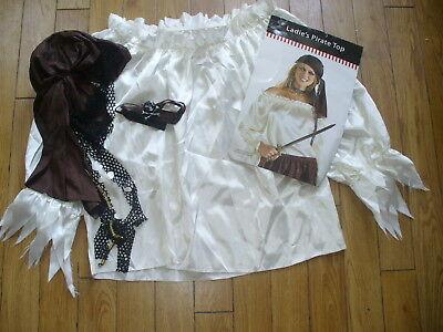 HALLOWEEN PIRATE LADY TOP-CHOKER & BANDANA-PERFECT  DISNEY CRUISE PIRATE NIGHT
