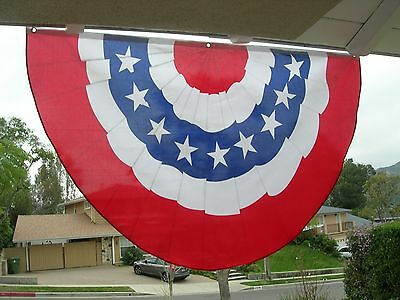 5 Double Sided Polyester Flag (PATRIOTIC USA BUNTING AMERICAN FLAG POLYESTER DOUBLE SIDED 5 X 3 FT  4th of)