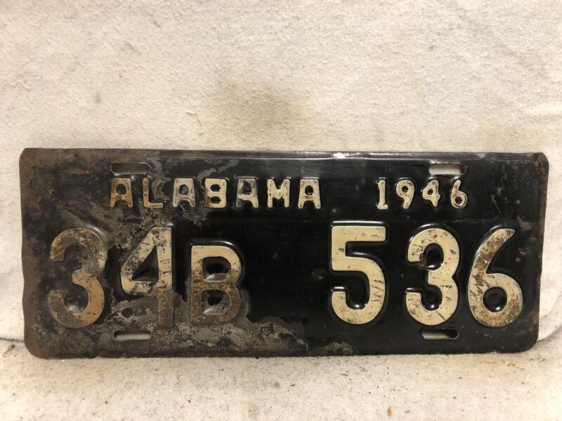Vintage 1946 Alabama License Plate