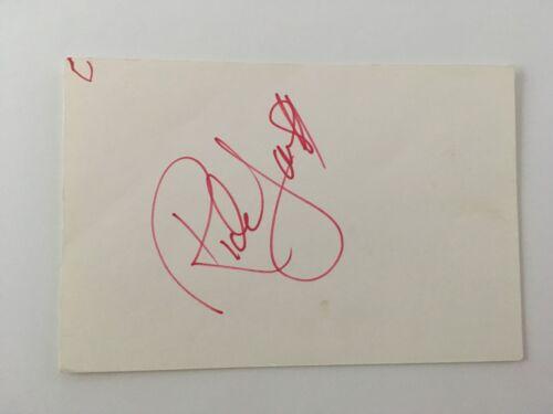 Rick James Signed Autographed 4x6 Card Full JSA Letter