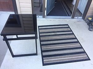 End tables(2) and entry way rug ( can be sold separately)