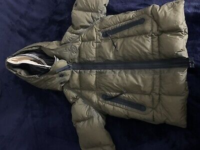 STONE ISLAND JUNIOR Boys Down Jacket Olive Supreme Goose (Damaged)