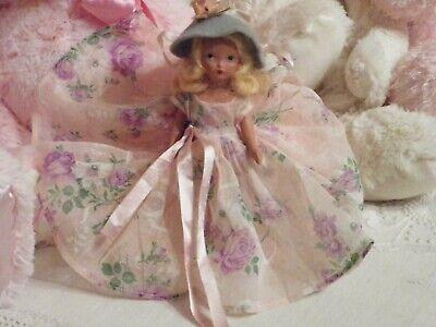 Vintage Nancy Ann Storybook Doll Blonde Mohair Wig Intaglio Eyes 7