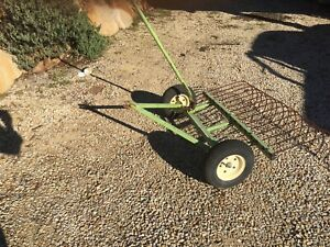 Stick Rake For Attaching To Ride On Lawnmower Lawn Mowers