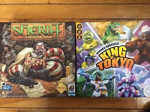 Sheriff of Nottingham and King of Tokyo board games
