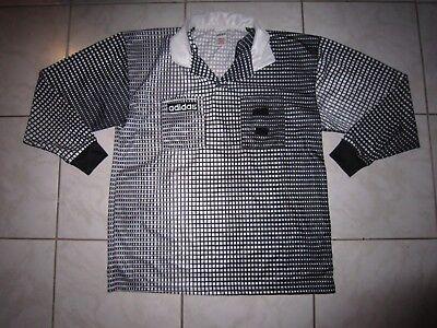Tolles Karo Streifen Polo Shirt von ADIDAS L 48 50 schwarz grau weiss wie NEU  ()