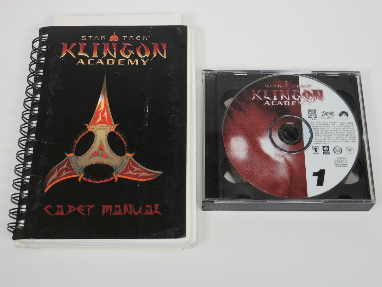 Computer Games - Star Trek Klingon Academy (PC, 2000) PC Vintage Computer Game Interplay