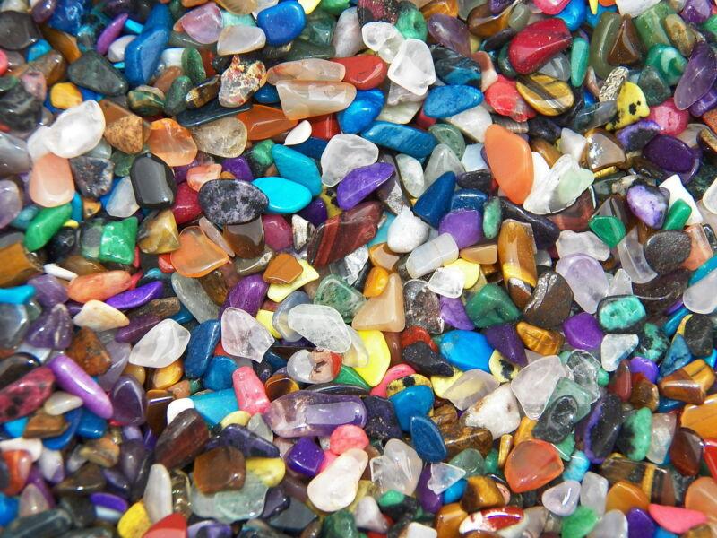 500 Carat Lots of Size #1 Tumbled Polished Gemstones - (~ 750 SMALL GEMSTONES)