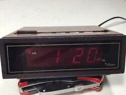 Vintage Sears Roebuck Tradition Digital Alarm Clock Red # Kawasaki Plug Japan