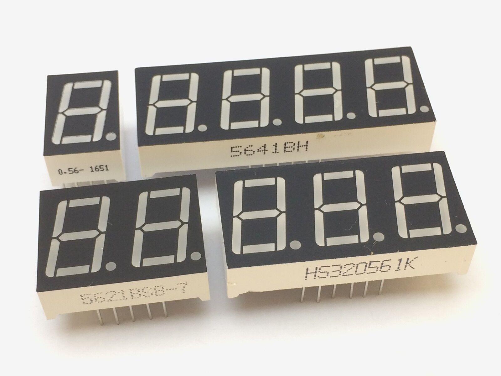 7-Segment Anzeige   14mm   1-,2-,3-,4-Ziffern   Gemeinsame Anode/Kathode display