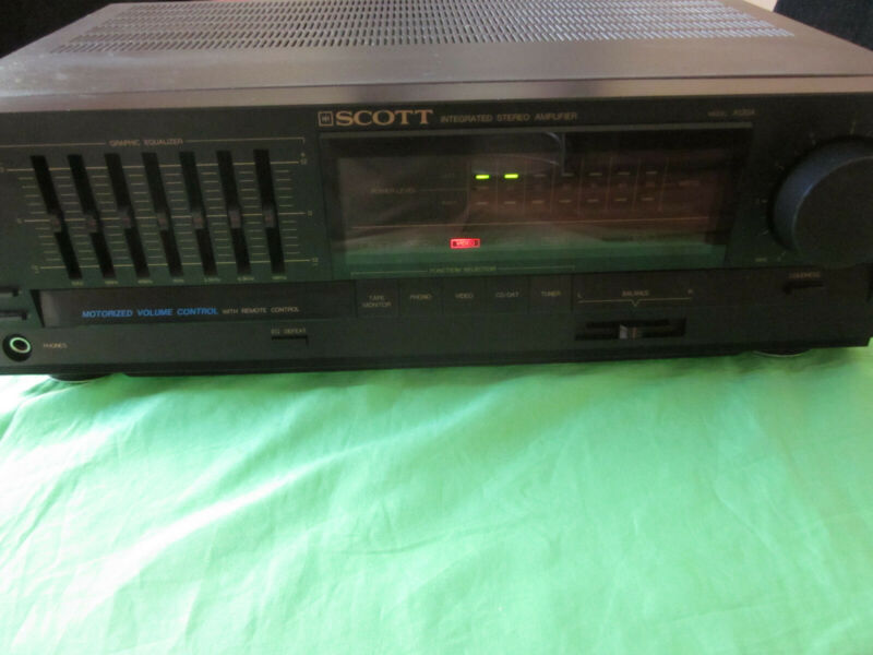 VINTAGE HH SCOTT A120A Integrated Stereo Amplifier Graphics Equalizer 430W 470VA