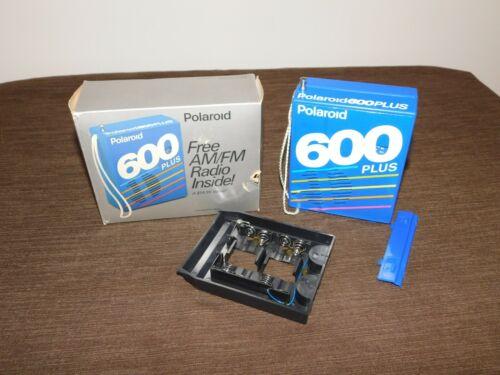 VINTAGE CAMERA 1989 POLAROID 600 PLUS FILM PROMO AM/FM RADIO in BOX
