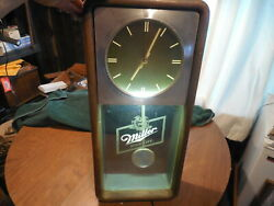 Vintage Miller High Life Pendulum Wall Clock Beer 1990s WORKS