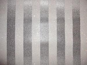 details about luxury designer wallpaper silver black glitter stripe