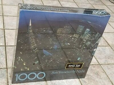 San Francisco By Night 1000 Pieces Springbok King Size Jigsaw Puzzle Nib Sealed