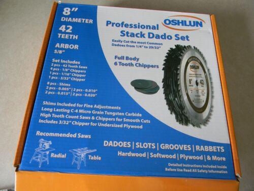"""Oshlun  8"""" 42T Dado  Blade  SDS-0842 (4-2)"""