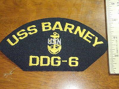 USS BARNEY DDG-6  UNITED STATES NAVY BATTLE SHIP  BX M 1