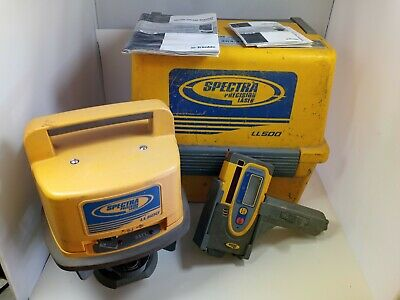 Trimble Spectra Precision Ll 500 Rotary Laser Level Works Fine