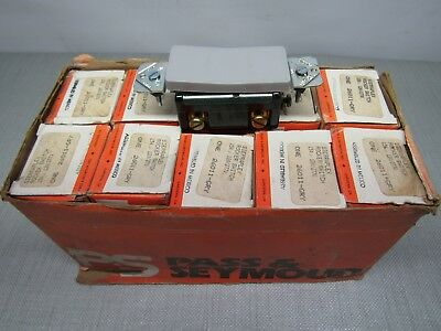 Pass Seymoursierraplex 26011-gry Rocker Switch 15a.120-277v Box Of 10