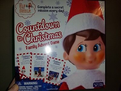The Elf On The Shelf Countdown To Christmas Family Advent Game By Buffalo Games