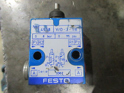 Festo Pneumatic Air Valve Limit Switch Type 4938 Vo-3-18