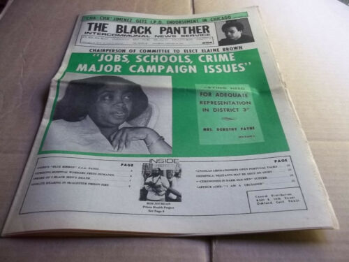 Black Panther Newspaper Jan. 18, 1975  Arthur Ashe  VG+