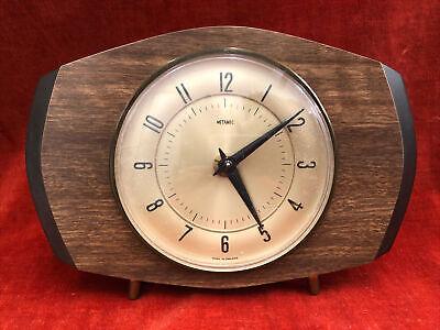 Vintage Retro Metamec Mantel Clock 15.5cm X 22cm
