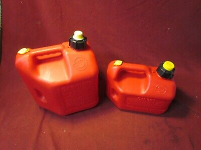 TWO BLITZ GAS CANS 2 GALLON 8 oz  &1 GALLON 4oz