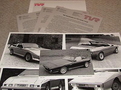 TVR 1982 BIRMINGHAM MOTOR SHOW PRESS PACK TASMIN 350I TVR TURBO