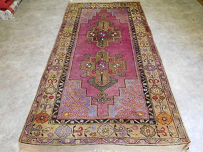 ANTIKER Teppich Handgeknüpfter Türkische Kazak 220 x 115 cm  ca 90 jahre alt