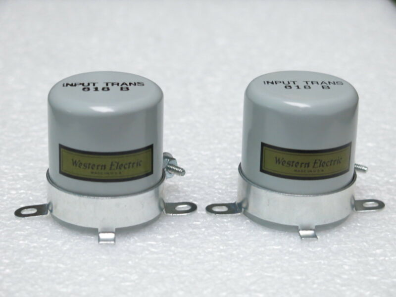 Two Western Electric 618B transformer case replica
